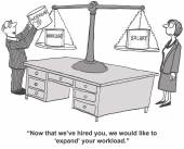 Businesswoman has more duties — Stock Vector