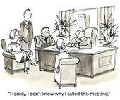 Meeting at boss — Stock Vector