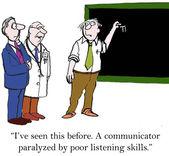 Communicator with poor listening — Stock Vector