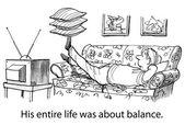 Balanced life wellness — Stock Vector