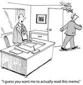 (Vector) Read Memo from Boss — Stock Vector