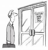 (Vector) Door Don't Open — Stock Vector