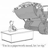 (Vector) Paperwork Mood — Stock Vector