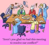 (Vector) Team Solving Conflict — Stock Vector