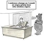 Grizzly bear who smokes cigars. — Stock Vector
