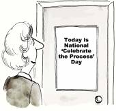 Celebrate the Process — Stock Vector
