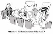 Summation of Charts — Stock Vector