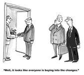 Bribery to Create Change — Stock Vector
