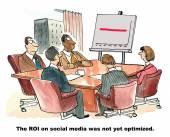ROI on Social Media — Stock Vector