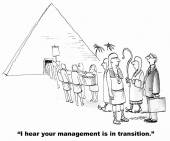 """""""I hear your management is in transition."""" — Stock Vector"""