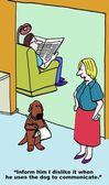 Dog complains of his master — Vector de stock