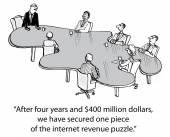 Internet revenue puzzle — Vecteur