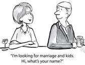 Я ищу для вступления в брак и дети. — Cтоковый вектор