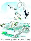 Flying training — Stock Vector
