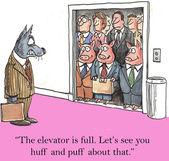 Huff And Puff cartoon — Stock Vector