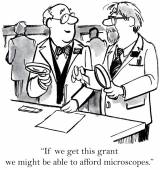 Grant for microscopes — Stock Vector