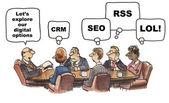 Online social media options — Stock Vector
