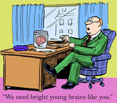 Bright young brains — Stock Vector