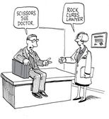A lawyer and a doctor — Vector de stock