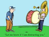 Distracting the golfer — Stock Vector