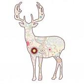 Vintage deer — Stock Vector