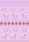 Deers with flowers — Stock Vector