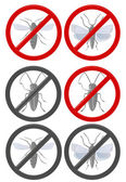 No insects grey — Stock Vector