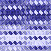 Blue greek seamless pattern — Stock Vector