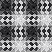 BLACK AND WHITE GREEK PATTERN — Stock Vector