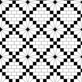 Black knitting pattern — Stock Vector