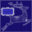 Blue background with deer — Stock Vector #77267796