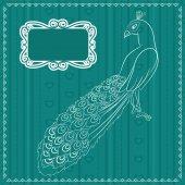 Peacock background — Stock Vector