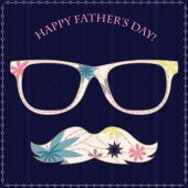 Happy fathers day card 2 — Stock Vector