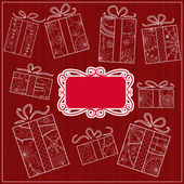 Background with gifts — Stock Vector