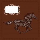 Horse background — Stock Vector
