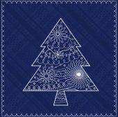 Christmas treebackground — Stock Vector