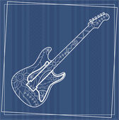 Background with guitar — Stock Vector