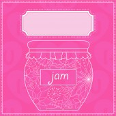 Background with jam — Stock Vector