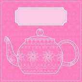 Teapot background — Stock Vector