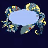 Marine background — Stock Vector