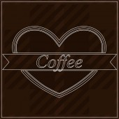 Background with word coffee — Stock Vector
