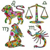 Colorful horoscope set 2 — Stock Vector