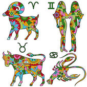 Colofrul horoscope — Stock Vector