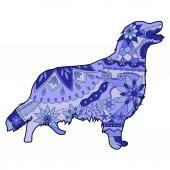 Dog blue — Stock Vector