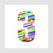 Alfabeto colorato — Vettoriale Stock