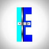 Blue metallic font — Stock Vector