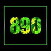 Green leaves alphabet — Stock Vector