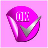 Ícone de Ok — Vetor de Stock