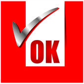 OK icon — Stock Vector