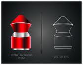 Parfüm şişeleri — Stok Vektör